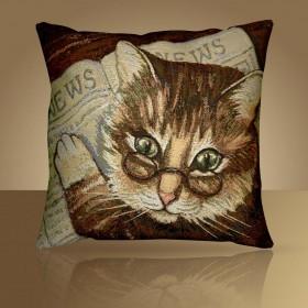 """Чехол на подушку """"Кот ученый"""""""